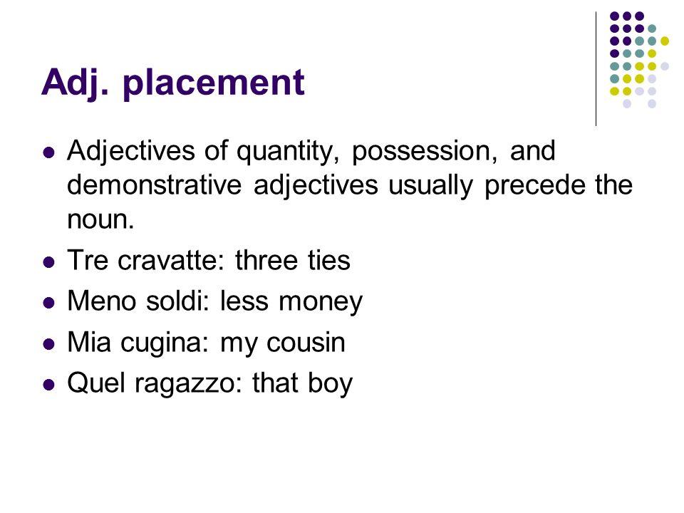 Questo and Quello as pronouns A pronoun replaces a noun.
