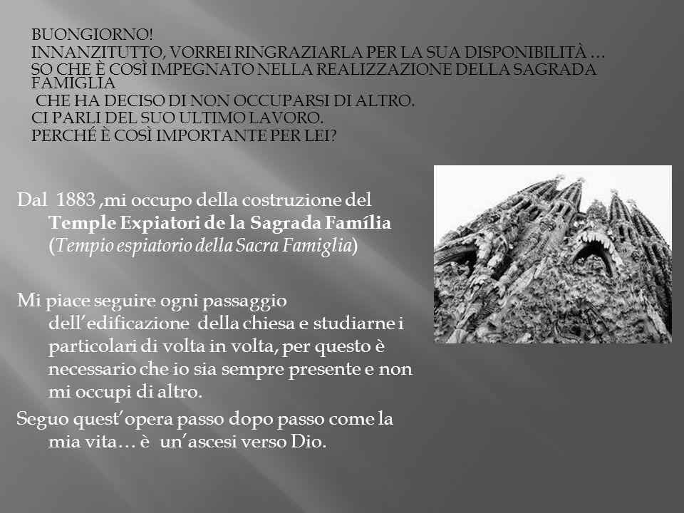 Bibliografia/ Sitografia: http://www.viaggioinspagna.it/barcellona/barcellona-vedere-sagrada-familia.html http://it.wikipedia.org/wiki/Sagrada_Fam%C3%ADlia http://www.archimagazine.com/bgaudi.htm http://www.informagiovani-italia.com/gaudi.htm http://www.vivagaudi.org/vita-e-opere-di-antoni-gaudi/ http://www.gaudidesigner.com/uk/casa-calvet-vitreaux.html http://it.wikipedia.org/wiki/Reus http://www.viaggioinspagna.it/barcellona/barcellona-arte-gaudi-modernismo.html http://www.spain.it/gaudi.html http://biografieonline.it/biografia.htm?BioID=932&biografia=Antoni+Gaudi