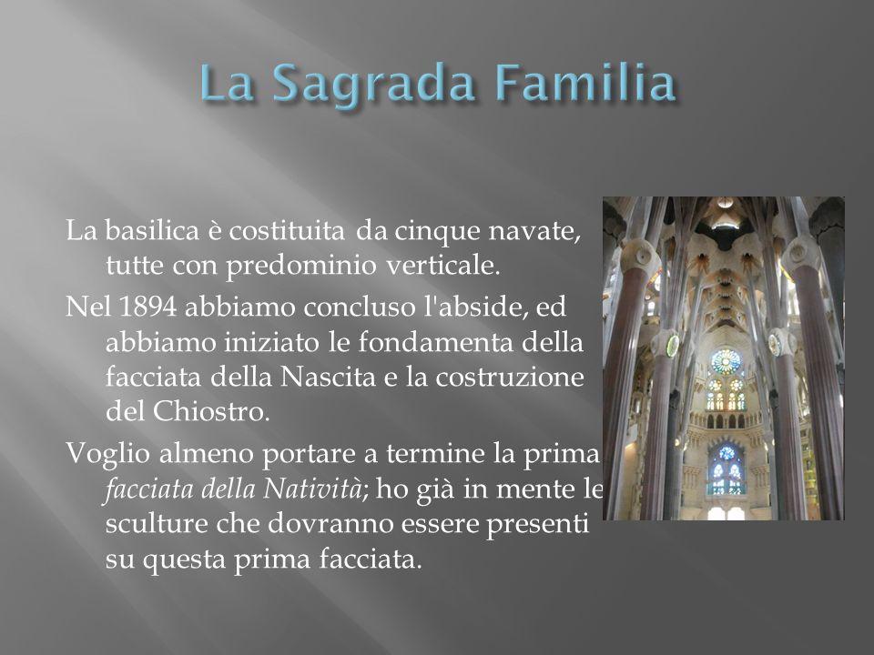 La basilica è costituita da cinque navate, tutte con predominio verticale. Nel 1894 abbiamo concluso l'abside, ed abbiamo iniziato le fondamenta della