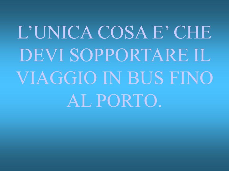 LUNICA COSA E CHE DEVI SOPPORTARE IL VIAGGIO IN BUS FINO AL PORTO.