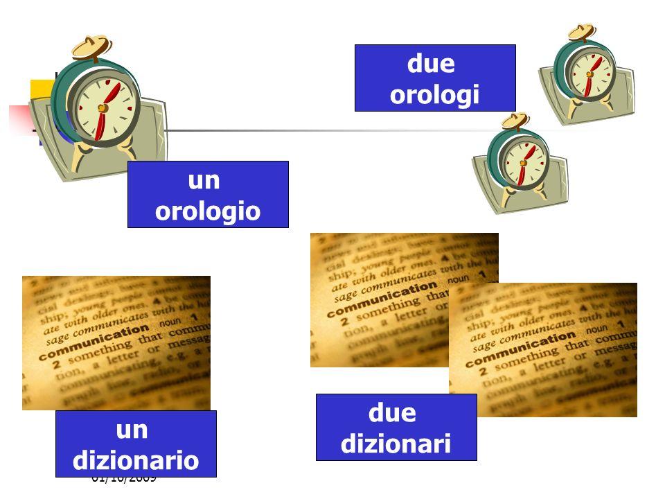 01/10/2009 un orologio due orologi un dizionario due dizionari