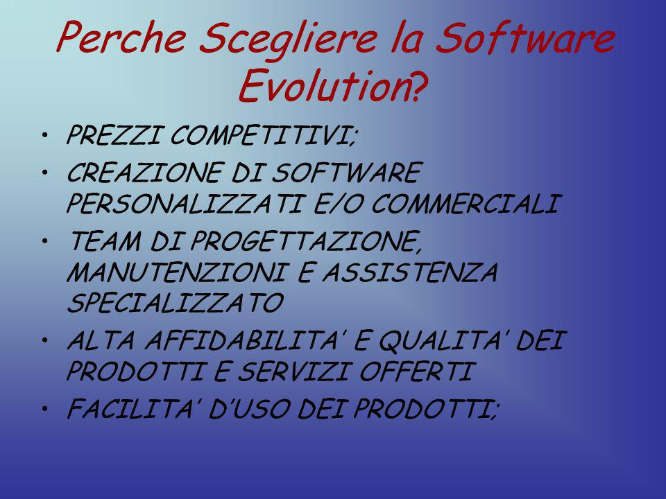 Perche Scegliere la Software Evolution.