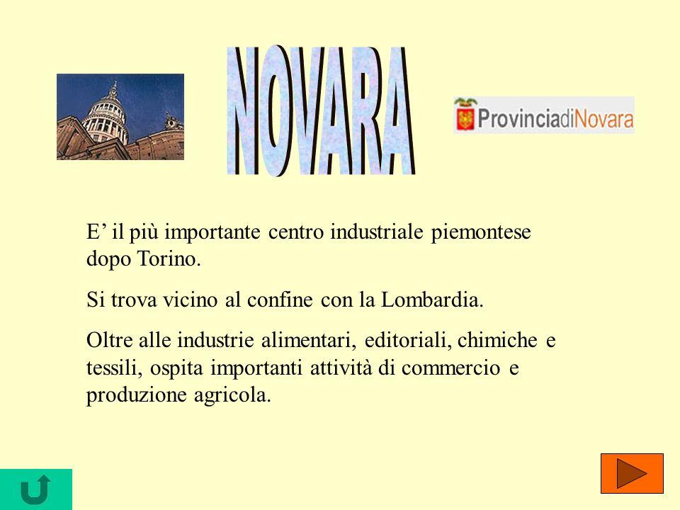 E il più importante centro industriale piemontese dopo Torino. Si trova vicino al confine con la Lombardia. Oltre alle industrie alimentari, editorial