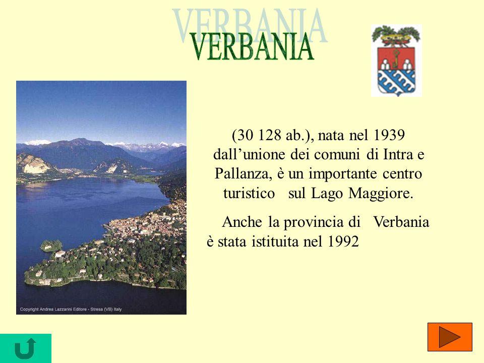 (30 128 ab.), nata nel 1939 dallunione dei comuni di Intra e Pallanza, è un importante centro turistico sul Lago Maggiore. Anche la provincia di Verba