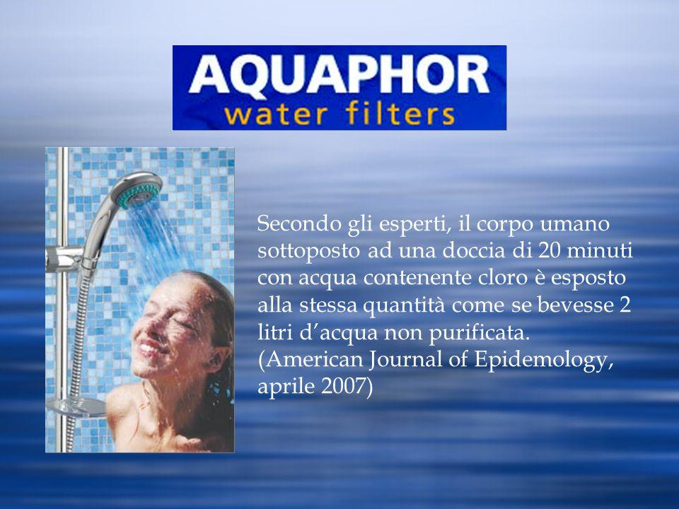 Secondo gli esperti, il corpo umano sottoposto ad una doccia di 20 minuti con acqua contenente cloro è esposto alla stessa quantità come se bevesse 2