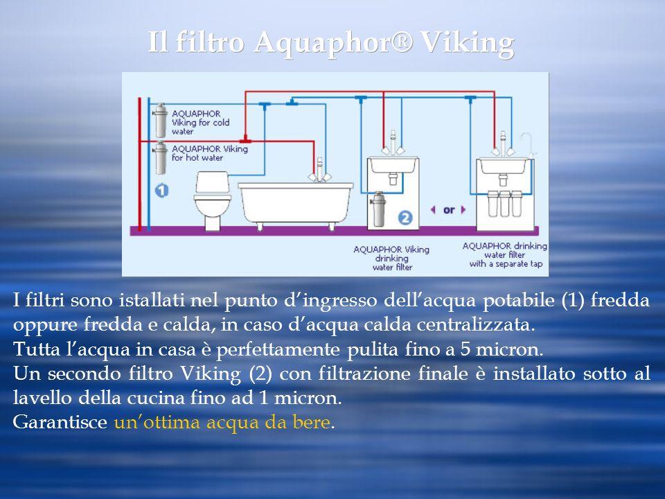 Il filtro Aquaphor® Viking I filtri sono istallati nel punto dingresso dellacqua potabile (1) fredda oppure fredda e calda, in caso dacqua calda centr