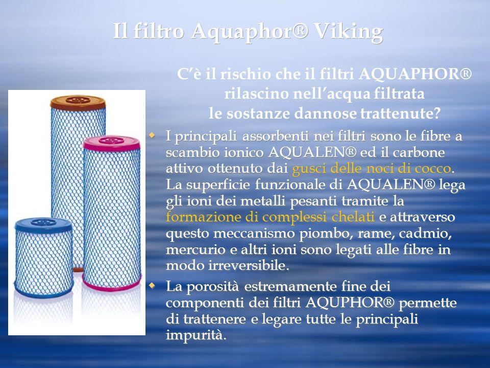 I principali assorbenti nei filtri sono le fibre a scambio ionico AQUALEN® ed il carbone attivo ottenuto dai gusci delle noci di cocco. La superficie