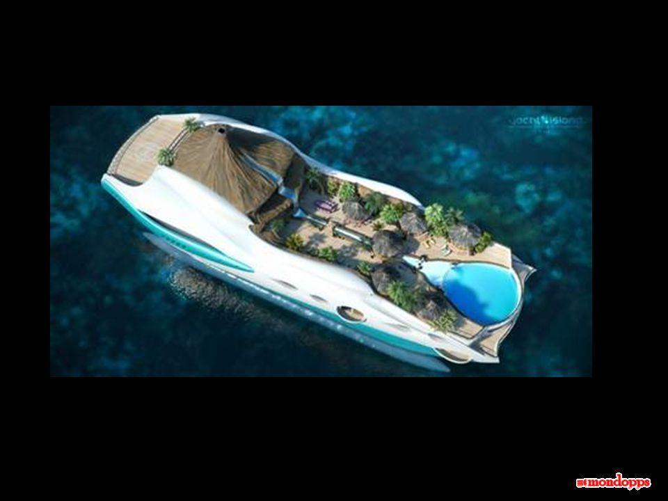Unidea per le vacanze della prossima estate. Potrebbe interessarti una crociera su unisola tropicale galleggiante? Con questo vistoso yacht di nuova c