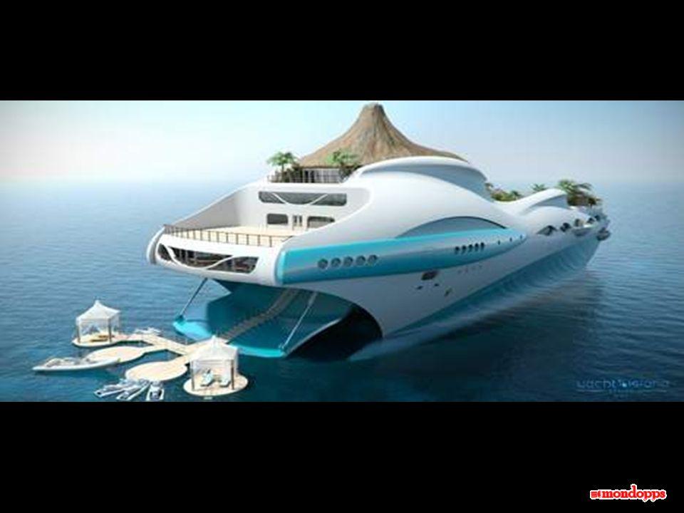 Questo progetto è scaturito dallimmaginazione zelante dello « Yacht Islan design », una società inglese di progettazioni. L'idea di partenza dei proge