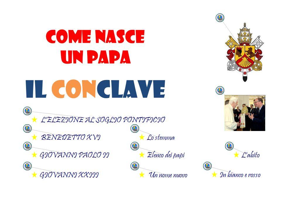 COME NASCE UN PAPA Il conclave