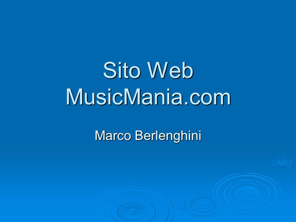 Descrizione del Sito Il sito ha come tema principale la Musica e più in particolare gli album musicali.