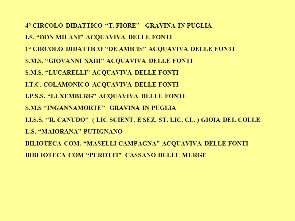 4° CIRCOLO DIDATTICO T.FIORE GRAVINA IN PUGLIA I.S.