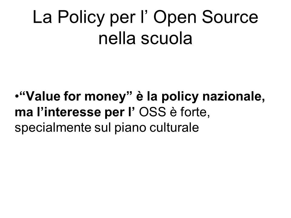 MIUR promuove accordi con le aziende di software per ottenere migliori condizioni per le licenze education e per promuovere luso di open source.
