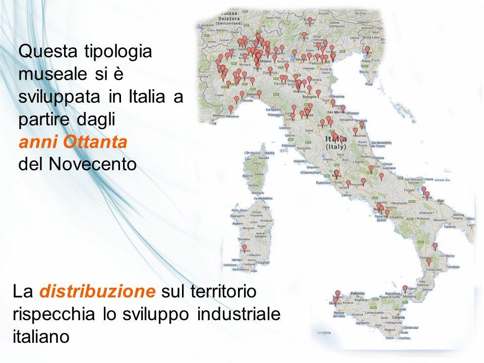 Questa tipologia museale si è sviluppata in Italia a partire dagli anni Ottanta del Novecento La distribuzione sul territorio rispecchia lo sviluppo i