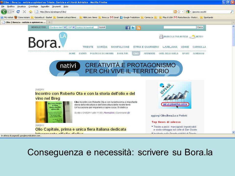 Conseguenza e necessità: scrivere su Bora.la
