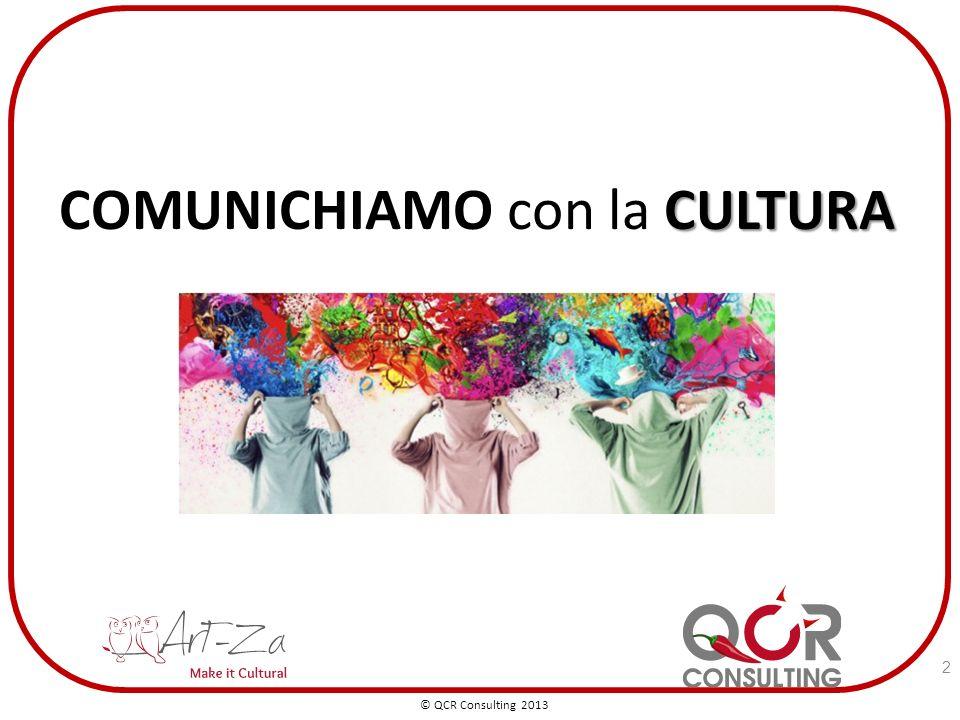 CULTURA COMUNICHIAMO con la CULTURA © QCR Consulting 2013 2
