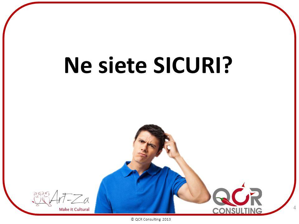 4 Ne siete SICURI © QCR Consulting 2013