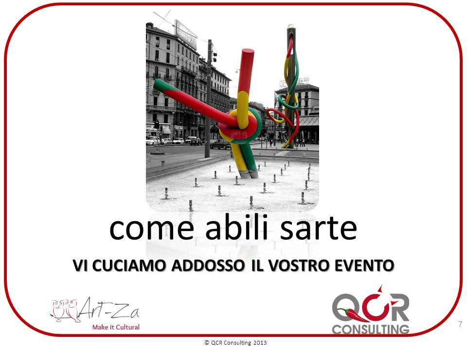 come abili sarte VI CUCIAMO ADDOSSO IL VOSTRO EVENTO © QCR Consulting 2013 7