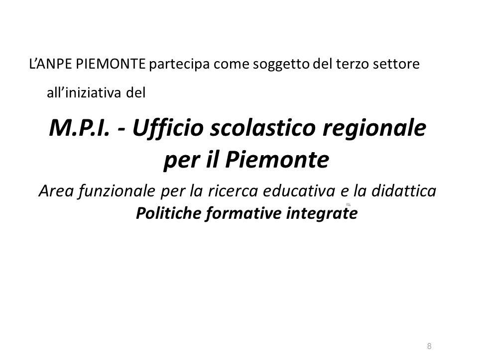 LANPE PIEMONTE partecipa come soggetto del terzo settore alliniziativa del M.P.I. - Ufficio scolastico regionale per il Piemonte Area funzionale per l