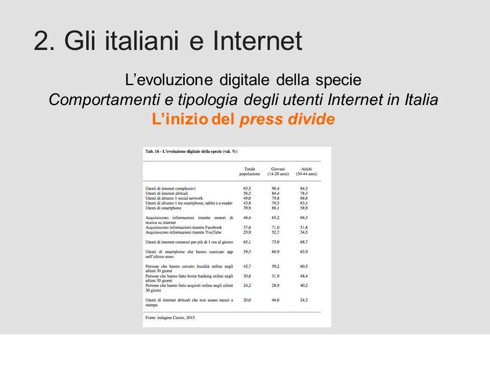 Proforma / Un blog aziendale: perché? 2. Gli italiani e Internet Levoluzione digitale della specie Comportamenti e tipologia degli utenti Internet in