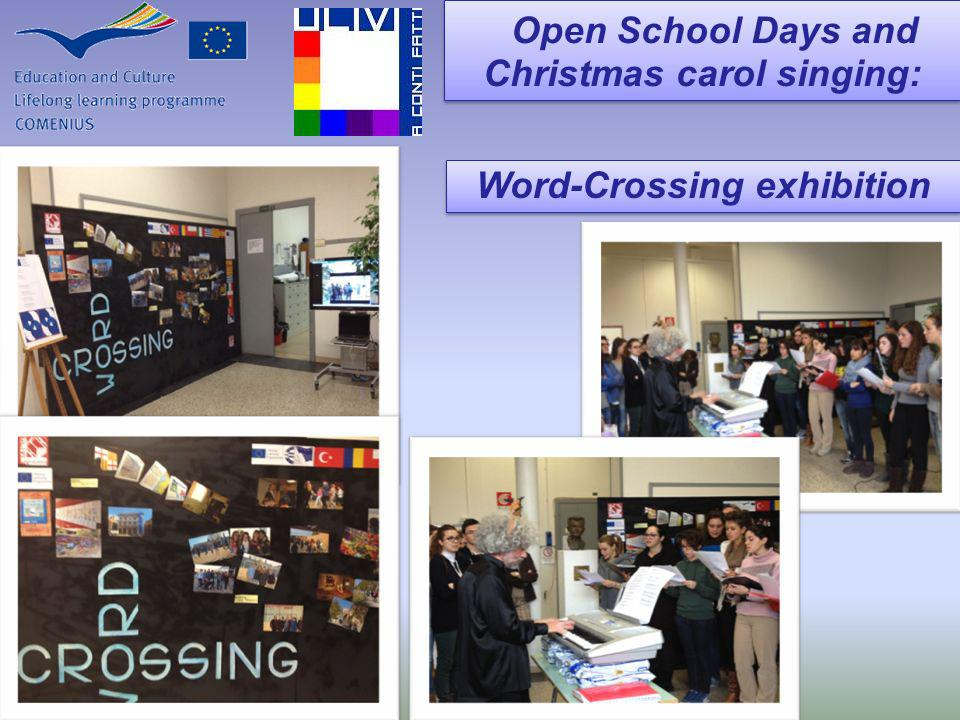 Open School Days and Christmas carol singing: Open School Days and Christmas carol singing: Word-Crossing exhibition