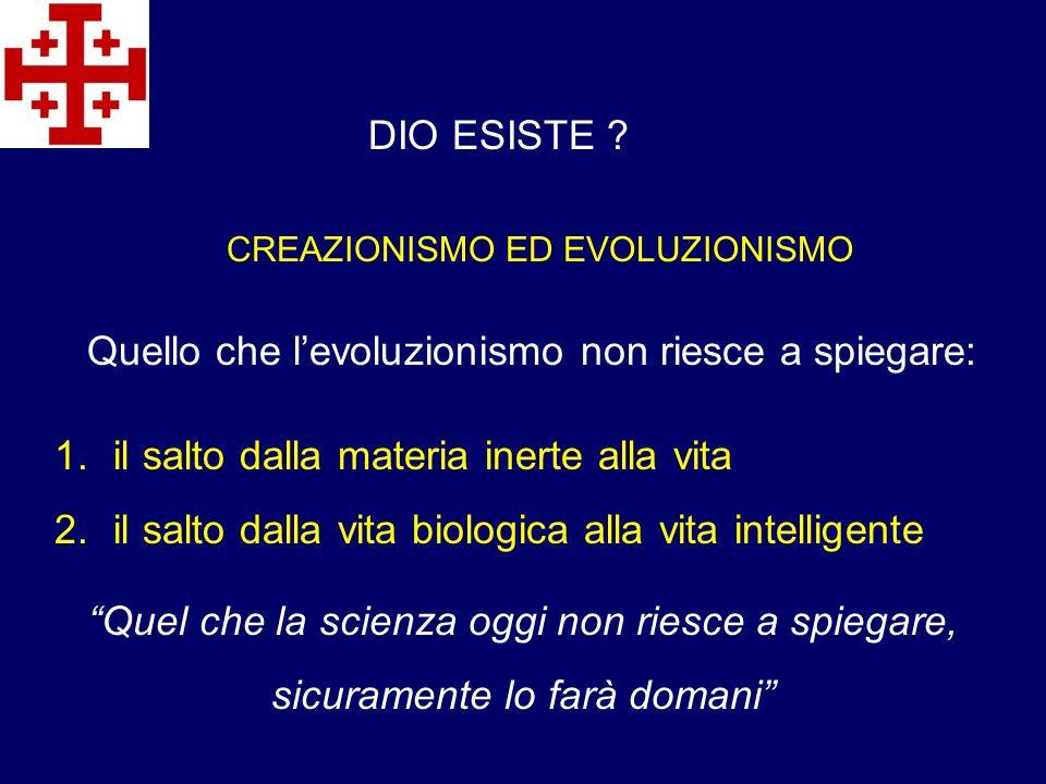Le obiezioni scientifiche contro linterpretazione standard della macro-evoluzione sono sempre più rilevanti e hanno raggiunto nel frattempo anche le pagine di santuari scientifici come Nature e Science (Robert Speamann) DIO ESISTE .