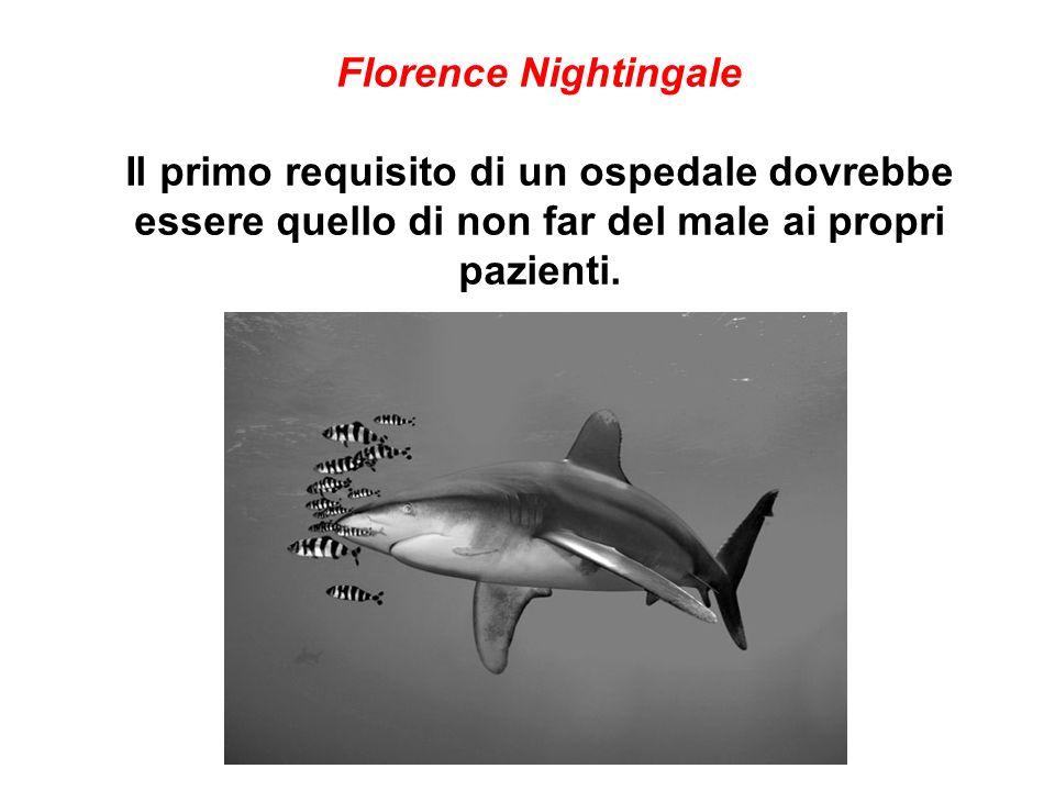 Florence Nightingale Il primo requisito di un ospedale dovrebbe essere quello di non far del male ai propri pazienti.
