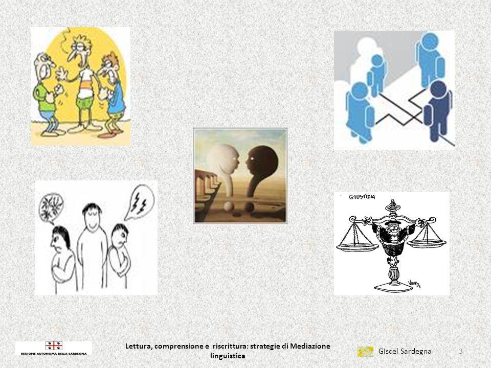 Lettura, comprensione e riscrittura: strategie di Mediazione linguistica Giscel Sardegna Lettura, comprensione e riscrittura: strategie di Mediazione