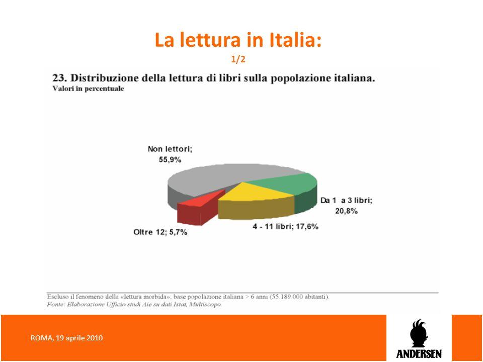 La lettura in Italia: 1/2 ROMA, 19 aprile 2010