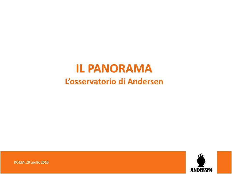 IL PANORAMA Losservatorio di Andersen ROMA, 19 aprile 2010