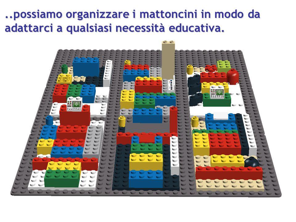..possiamo organizzare i mattoncini in modo da adattarci a qualsiasi necessità educativa.