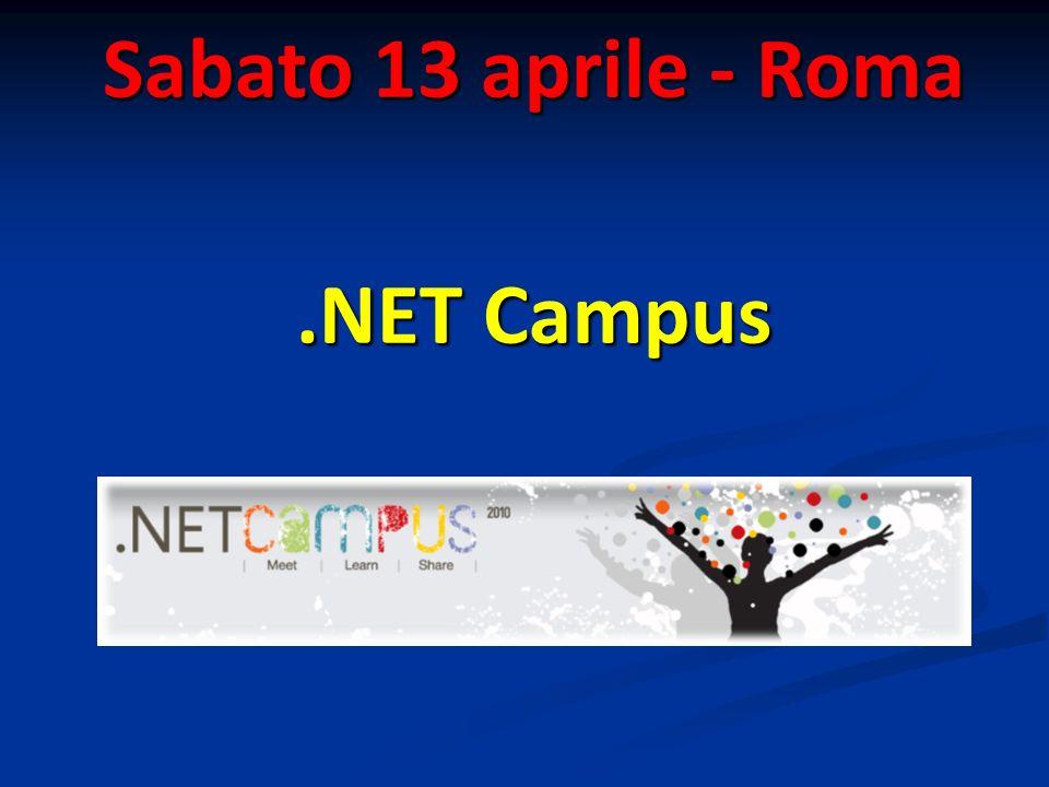 Sabato 13 aprile - Roma.NET Campus