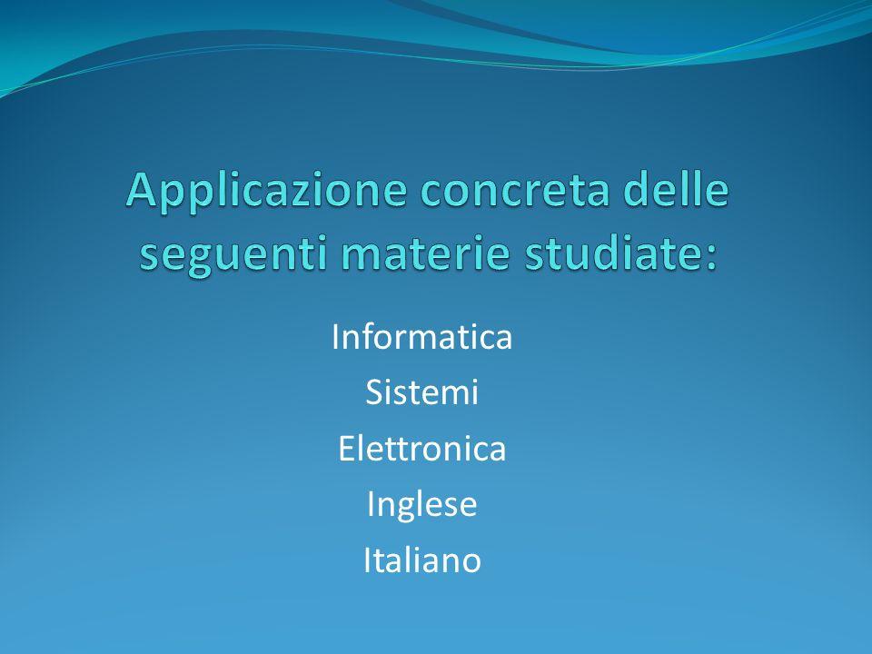 Informatica Sistemi Elettronica Inglese Italiano