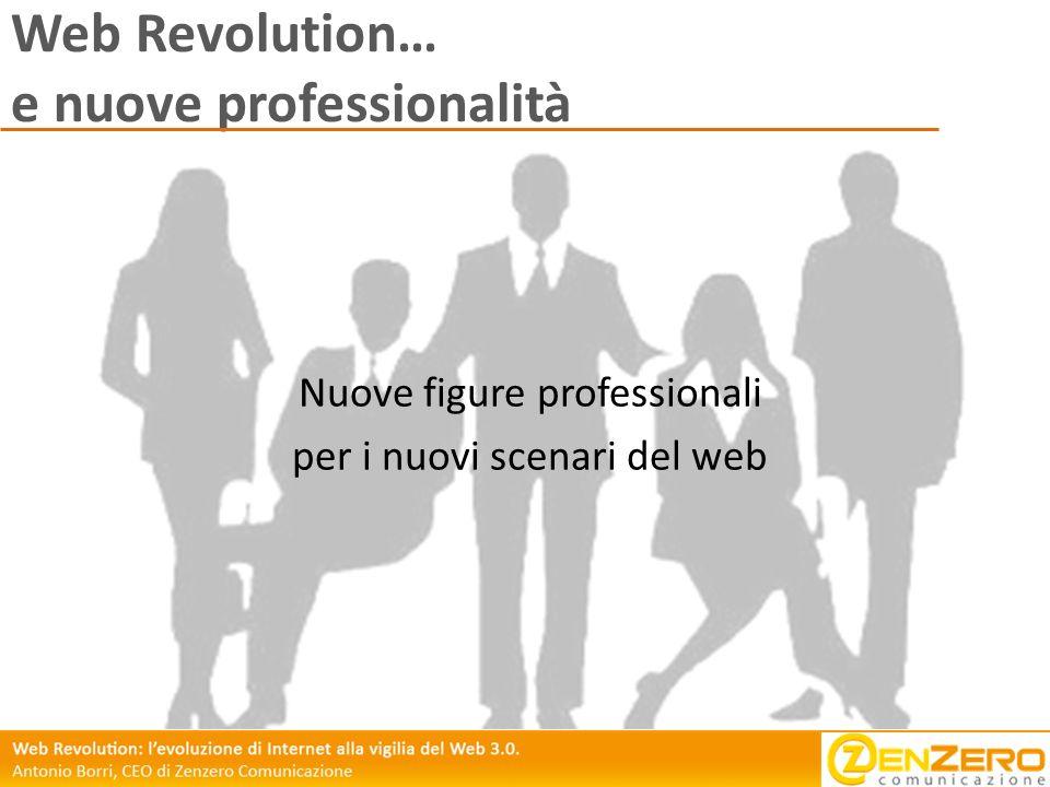 Web Revolution… e nuove professionalità Nuove figure professionali per i nuovi scenari del web