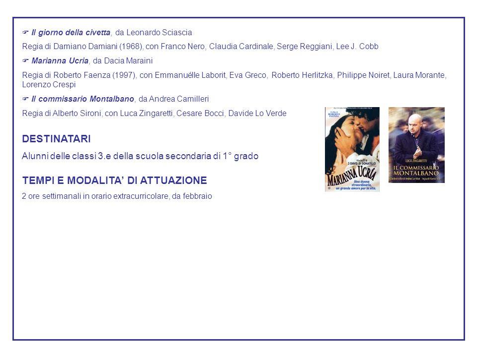 Il giorno della civetta, da Leonardo Sciascia Regia di Damiano Damiani (1968), con Franco Nero, Claudia Cardinale, Serge Reggiani, Lee J.