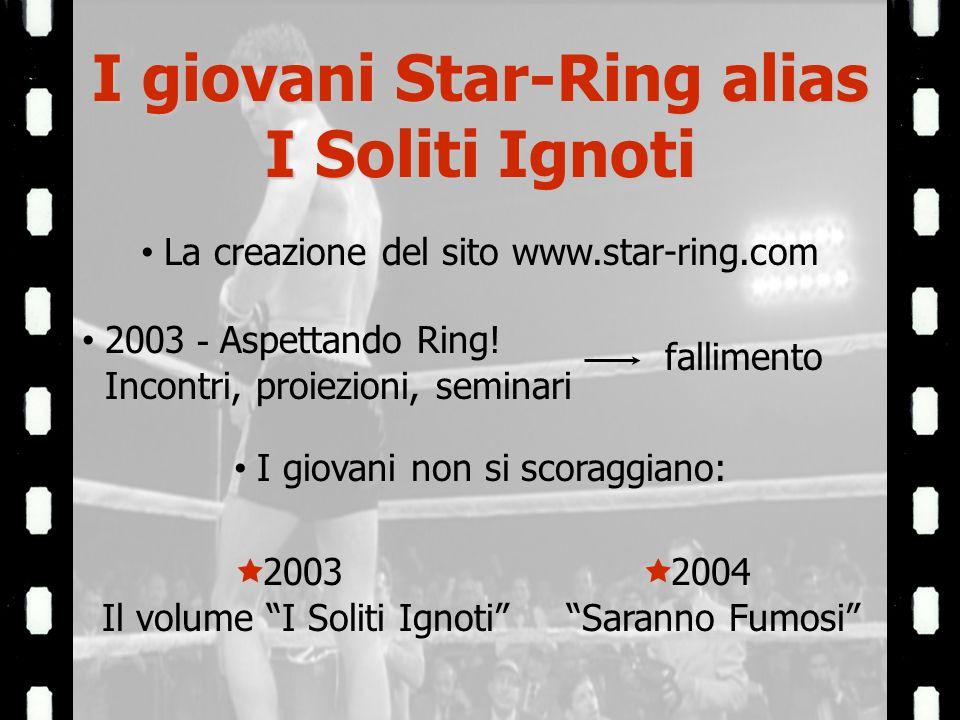 I giovani Star-Ring alias I Soliti Ignoti La creazione del sito www.star-ring.com 2003 - Aspettando Ring.