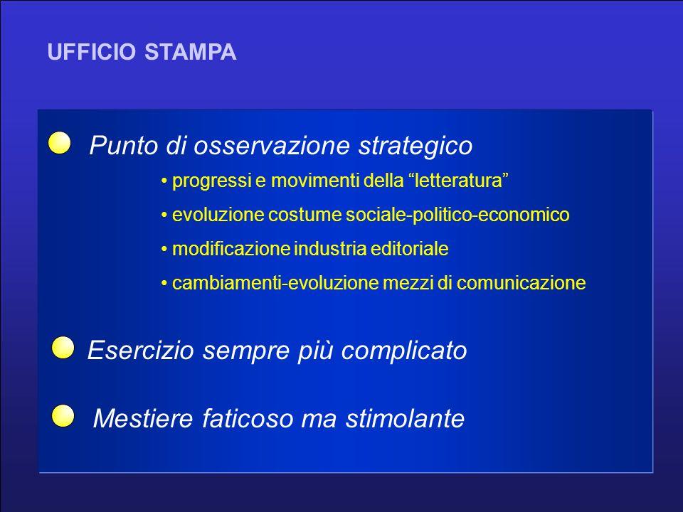 giornalismo casa editrice autori culturaspettacolo UFFICIO STAMPA punto di osservazione strategico