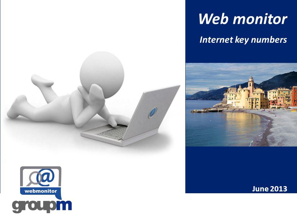 Web monitor Internet key numbers June 2013