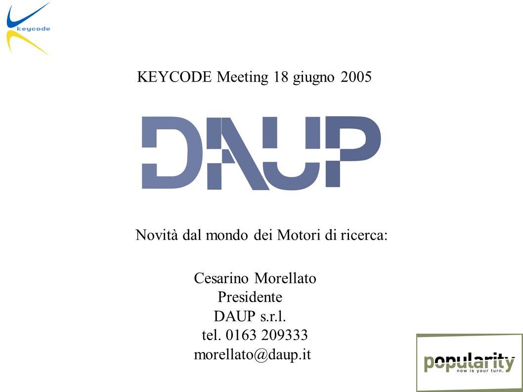 Cesarino Morellato Presidente DAUP s.r.l. tel.