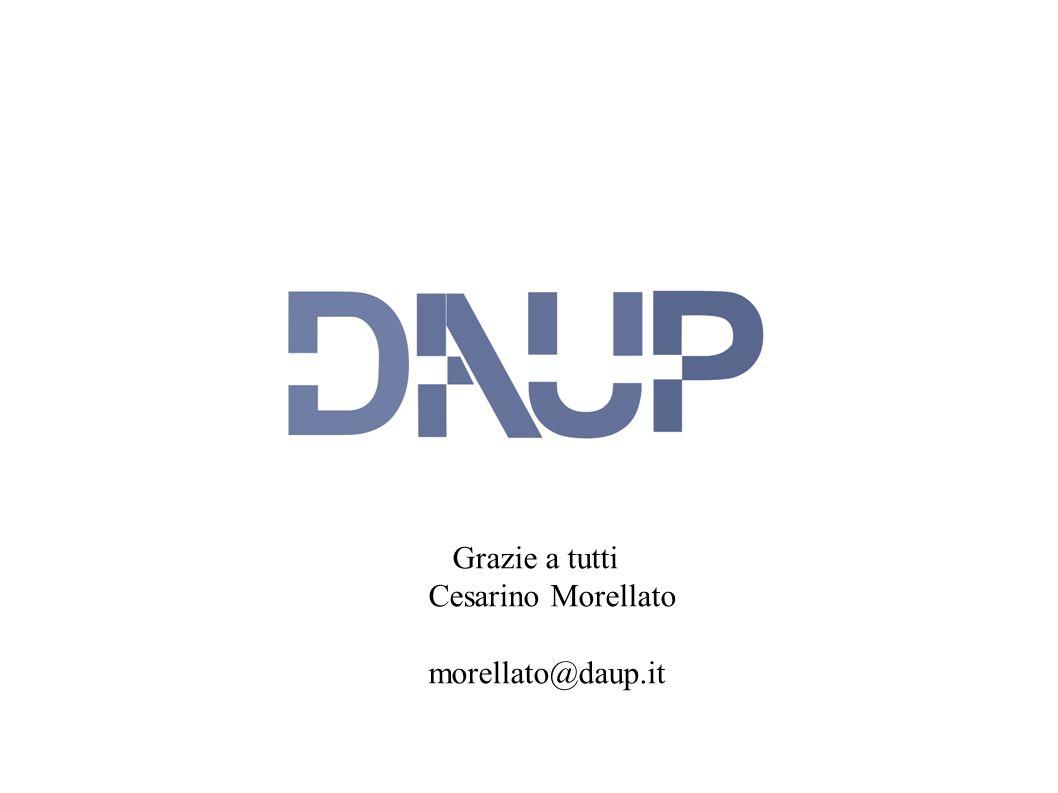 Grazie a tutti Cesarino Morellato morellato@daup.it