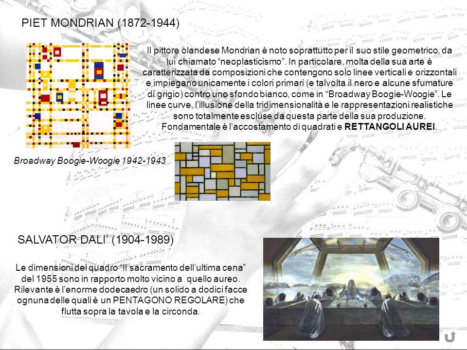 Il pittore olandese Mondrian è noto soprattutto per il suo stile geometrico, da lui chiamato neoplasticismo. In particolare, molta della sua arte è ca