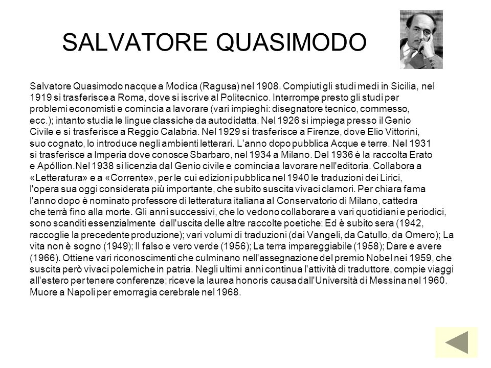 Salvatore Quasimodo - Lessons - Tes Teach