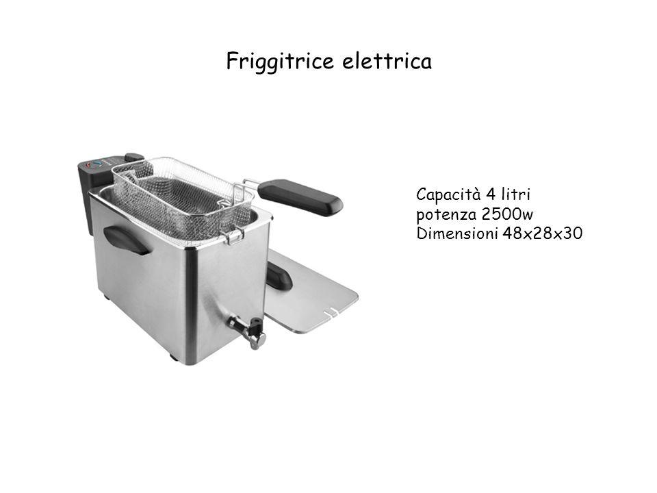 Friggitrice elettrica Capacità 4 litri potenza 2500w Dimensioni 48x28x30