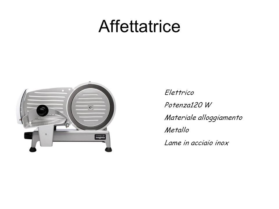 Affettatrice Elettrico Potenza120 W Materiale alloggiamento Metallo Lame in acciaio inox