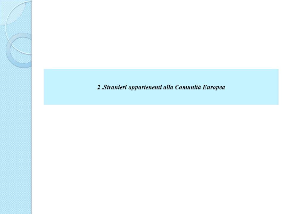 2.Stranieri appartenenti alla Comunità Europea