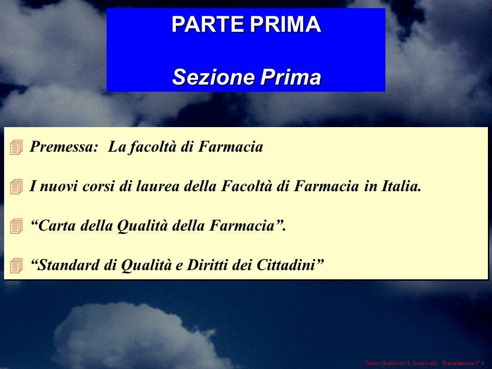 Centro Grafico by S. Sciacovelli Presentazione N° 4 4Premessa: La facoltà di Farmacia 4I nuovi corsi di laurea della Facoltà di Farmacia in Italia. 4C
