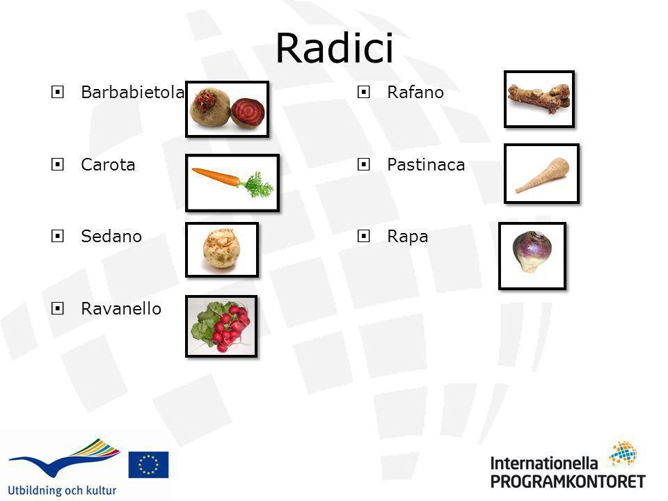 Alcune delle verdure sono radici.