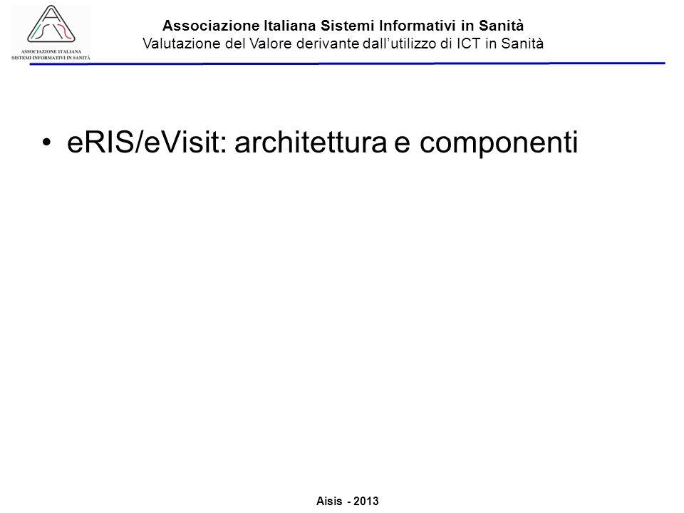 Aisis - 2013 Associazione Italiana Sistemi Informativi in Sanità Valutazione del Valore derivante dallutilizzo di ICT in Sanità eRIS/eVisit: architettura e componenti