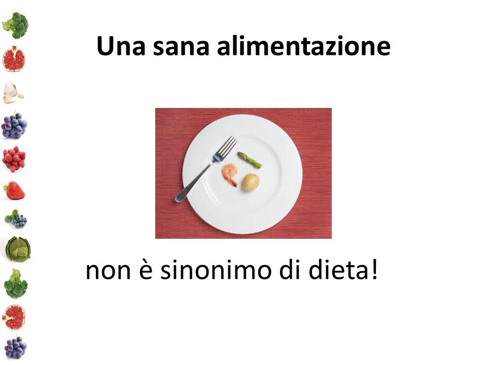 Una sana alimentazione non è sinonimo di dieta!