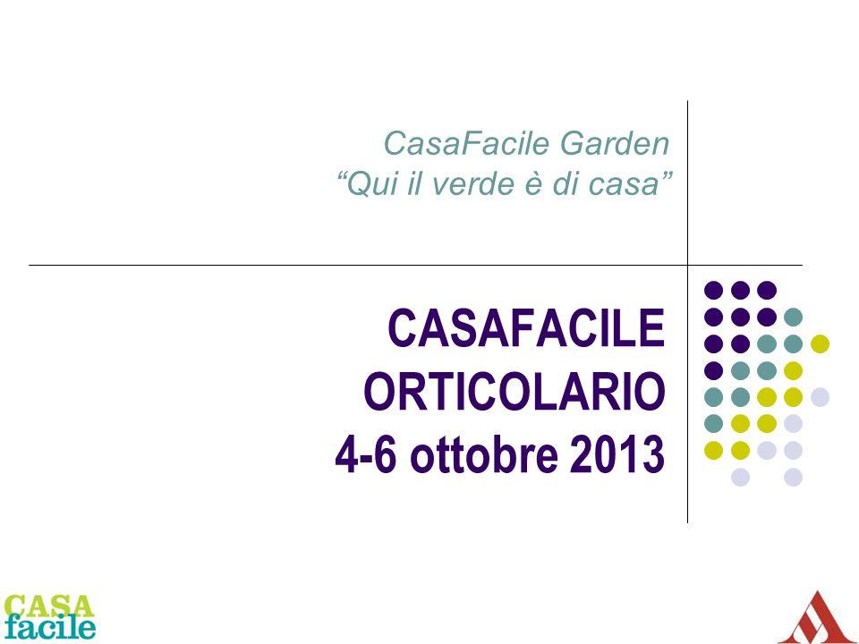 CASAFACILE ORTICOLARIO 4-6 ottobre 2013 CasaFacile Garden Qui il verde è di casa